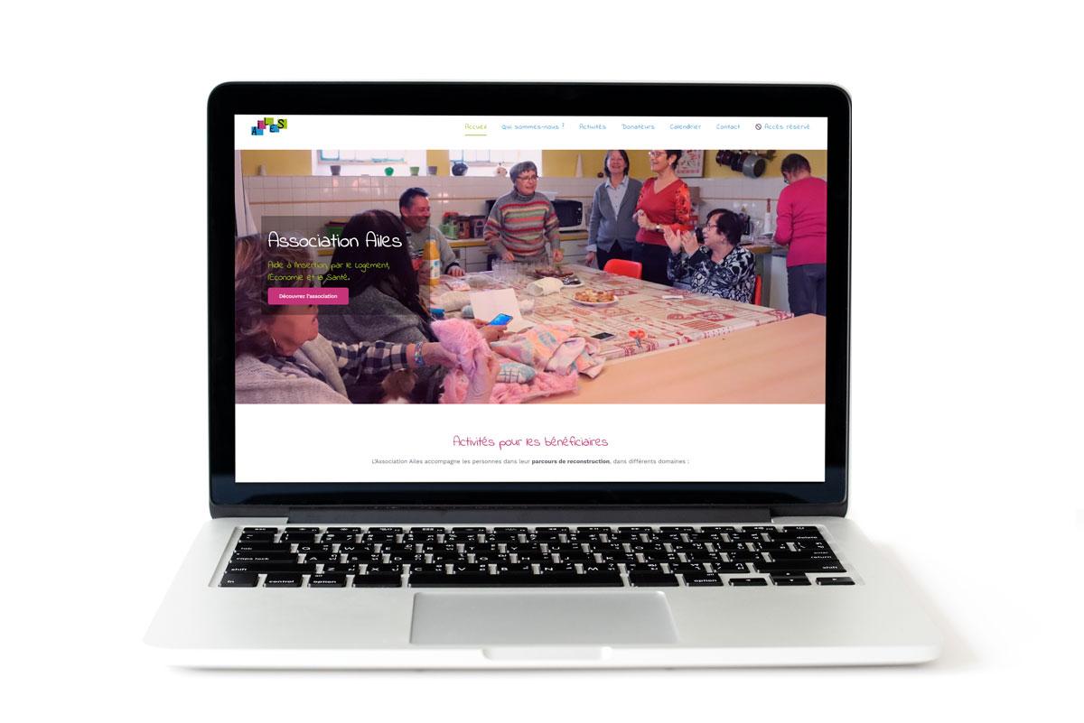 Création du site web de l'Association Ailes, Aide à l'Insertion, par le Logement, l'Économie et la Santé