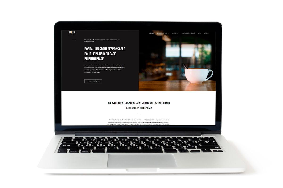Création du site web de Bosra - Solution de machine à café écologique en Haute-Savoie pour les TPE / PME