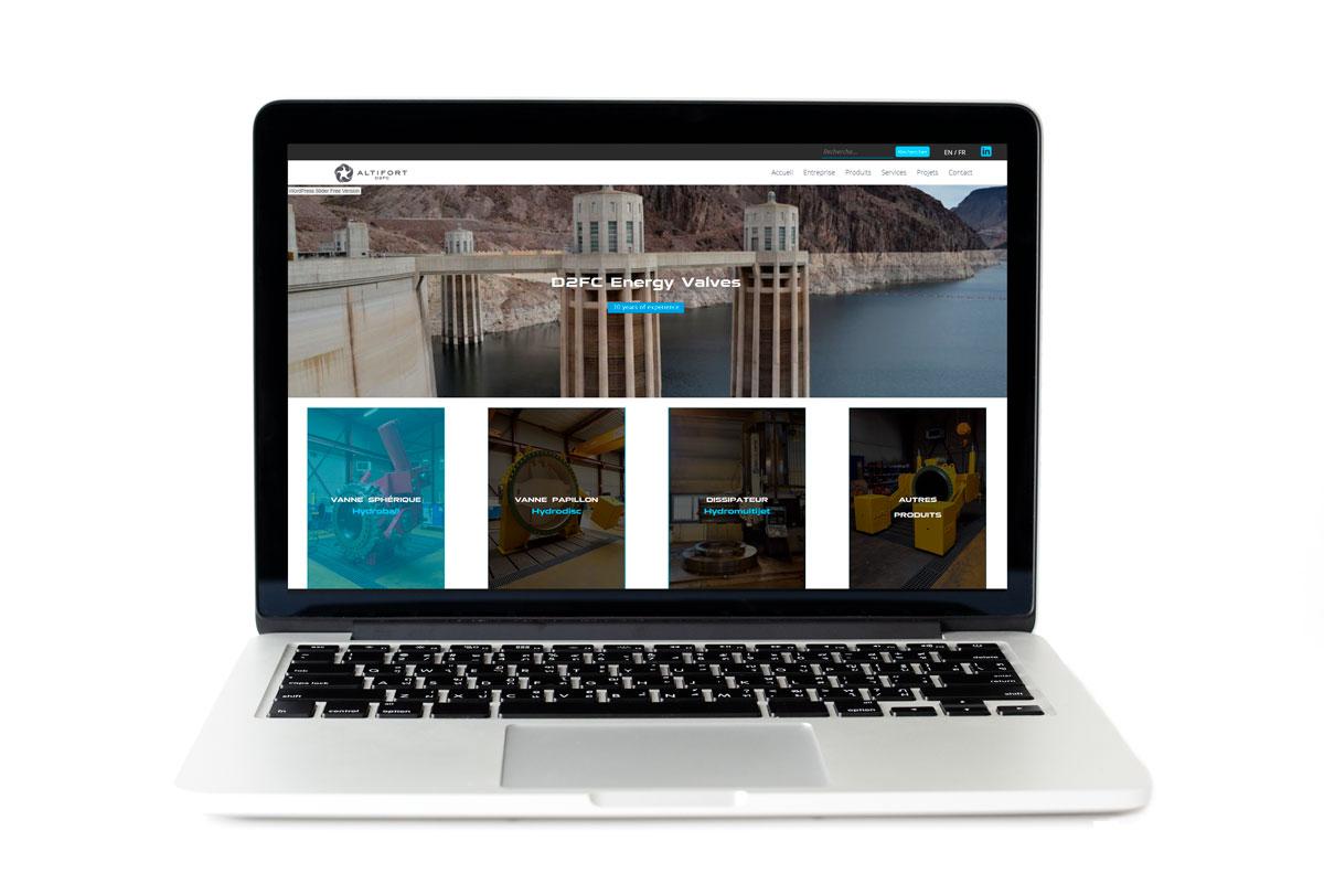Création du site web de D2FC Energy Valves, Robinetterie Industrielle