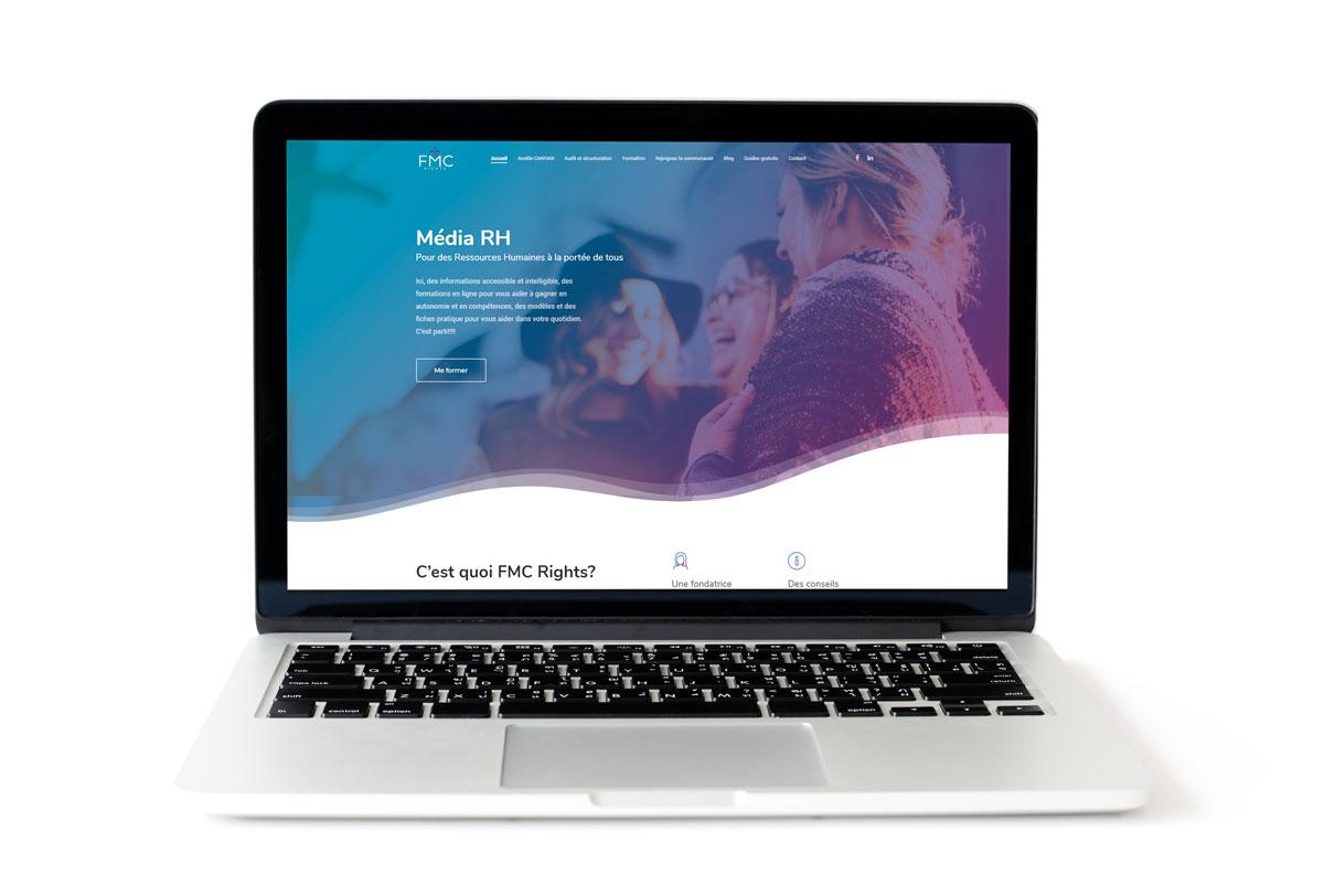 Création du site web de FMC Rights - Experte en recrutement RH pour les TPE / PME d'Annecy