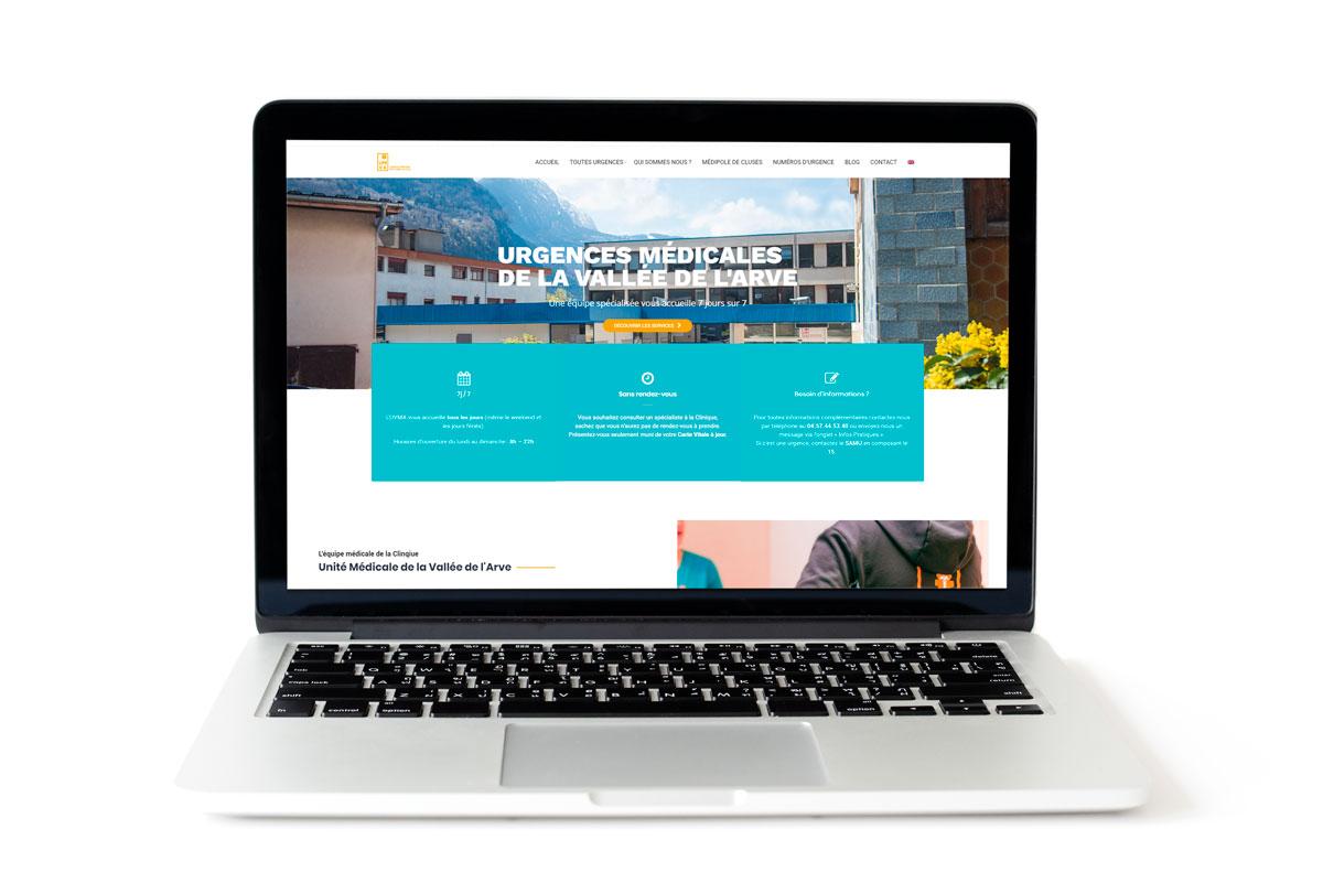 Création du site web de l'UMVA, l'Unité Médicale de la Vallée de l'Arve en Haute-Savoie