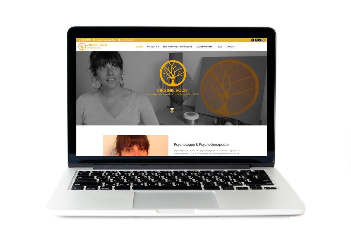 Formation et refonte du site web de Virginie Roch, psychologue et psychothérapeute à Cuvat, Haute-Savoie
