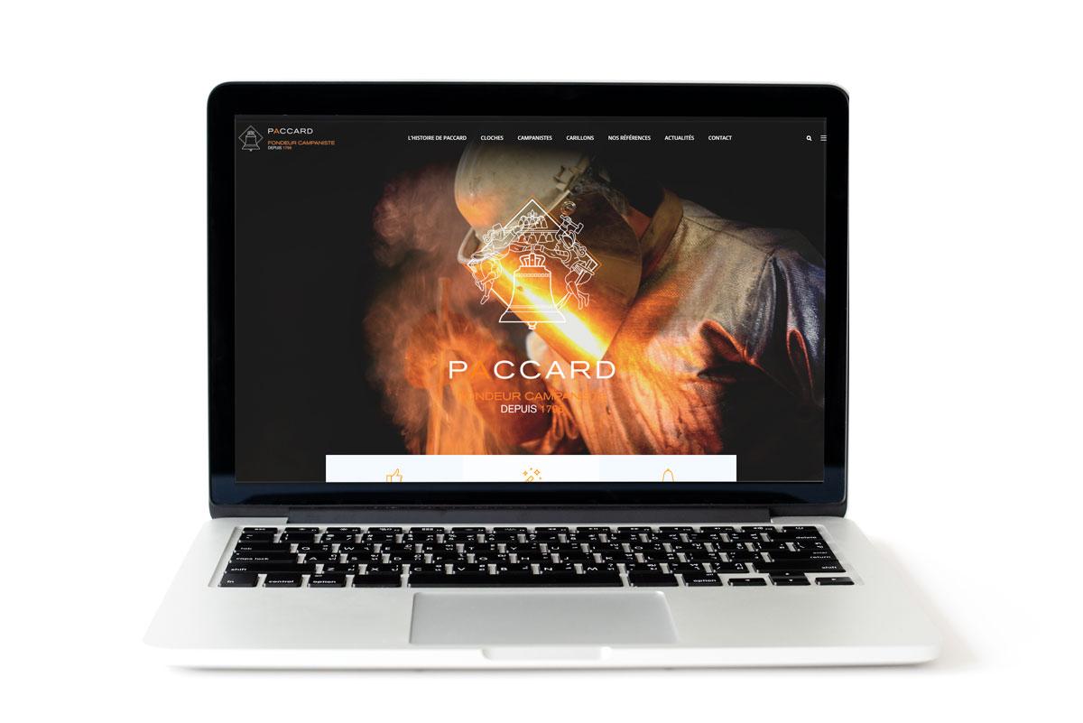 Refonte du site web de la Fonderie Paccard à Sévrier (Haute-Savoie)