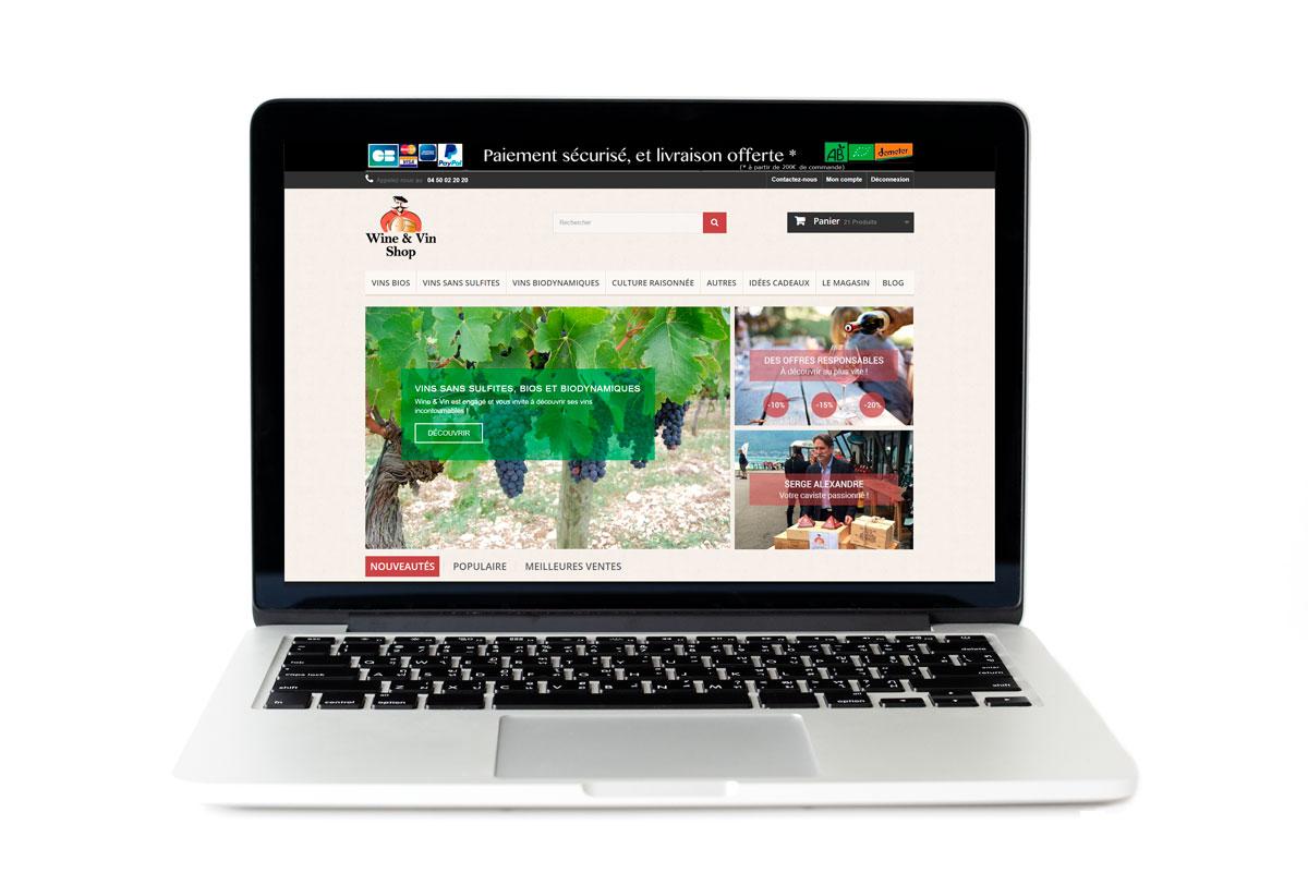 Amélioration du site web de Wine & Vin, vente de vin en ligne