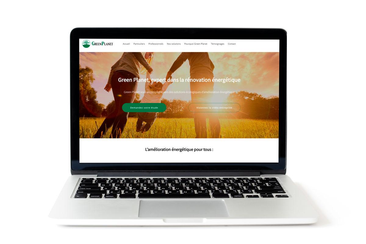 Création du site web de Green Planet