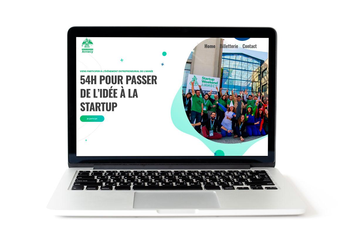 Création du site web des Startup Weekend Annecy