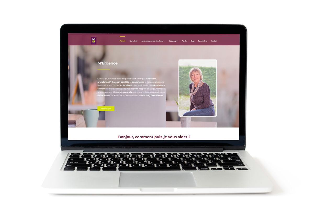 Création du site Internet de M-Ergence | Coaching adulte, accompagnement étudiant et création d'entreprise Haute-Savoie
